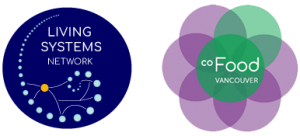 An image of the logos for Living Systems Network and coFood Vancouver