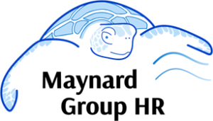 An image of the Maynard Group HR logo, a sea turtle